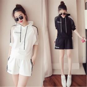 夏季韩版女士休闲时尚运动套装女两件套女装