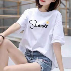 女装短袖2020新款潮宽松超火夏装女士t恤韩版半袖