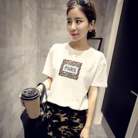 2020夏季韩版新款短袖T恤女宽松圆领女式上衣