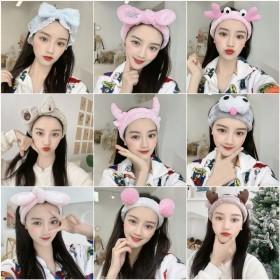 洗脸束发带女韩版网红化妆敷面膜发箍甜美可爱头饰简约