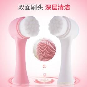 3D双面洗脸刷软毛硅胶洗脸仪家用手动洁面刷洗脸神器