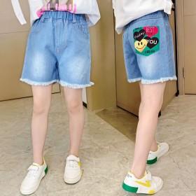 女童牛仔短裤2020夏季新款洋气时髦中大童韩版外穿