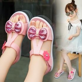 儿童凉鞋女夏季2020新款时尚中大童沙滩鞋女童软底