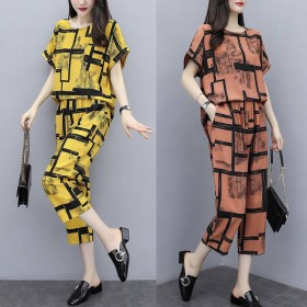 时尚套装女夏季韩版加肥加大码女装