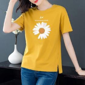 棉短袖T恤女2020新款女装夏季韩版宽松大码体恤纯