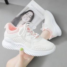 运动鞋女夏季透气网面鞋休闲跑步鞋女韩版百搭小白鞋女