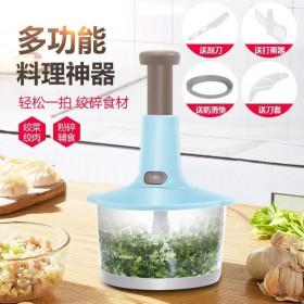 家用手动按压蒜蓉蒜泥神器捣蒜搅蒜切蒜打蒜切菜粉碎器
