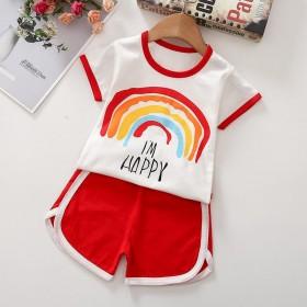 纯棉儿童套装新款童装夏季短袖儿童套装