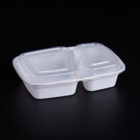 外卖盒1000ml两格分餐盒一次性打包盒