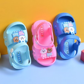 2020新款儿童夏洞洞鞋幼儿卡通包头幼儿凉鞋拖鞋