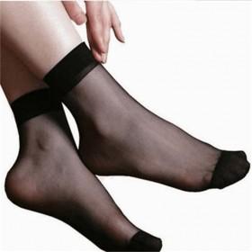 10双装特恵超薄堆堆袜水晶短透明隐形薄玻丝短丝袜