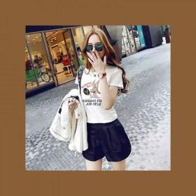 批发白色T恤女短袖夏装新款宽松女装体恤韩版半袖上衣