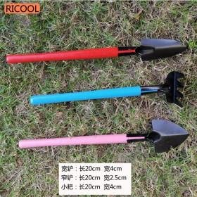 不锈钢三件套小铲子养花工具园艺工具小铁锹耙子 包邮