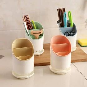 双层沥水筷子架厨房筷子筒创意塑料筷子笼
