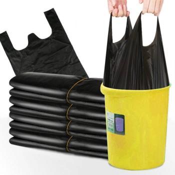 50个垃圾袋】加厚垃圾袋手提黑色垃圾袋一次性背心袋