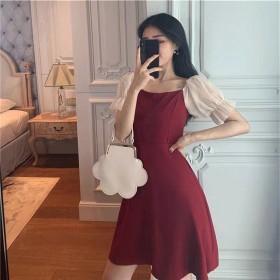 2020年连衣裙女春季韩版温柔风气质修身显瘦A字裙