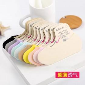 【一包10双】夏天隐形船袜浅口糖果色魔术袜防臭吸汗