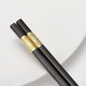 家用合金10双防滑不发霉套装非实木筷子
