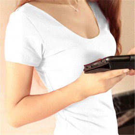 韩版女式T恤大码打底衫女修身显瘦上衣女装(程冀