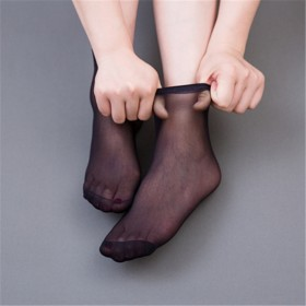 3双装春夏短袜弹力隐形透气防脱不勾丝超薄钢丝袜女潮