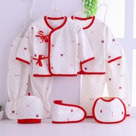 新生婴儿分体衣裤七件套装绑带和尚服纯棉春秋初女宝宝