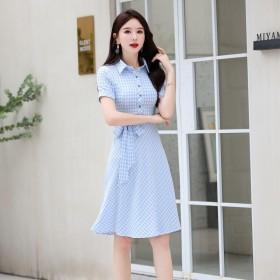 连衣裙女2020夏季流行中长款裙子新款韩版时尚简约