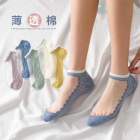 2020春夏季船袜 女袜子水晶 玻璃 丝袜 百搭