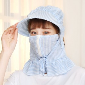 遮阳帽全脸女士夏天采茶遮脸防晒帽紫外线凉帽