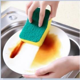 厨房高密浸胶洗碗海绵擦多功能家用方形清洁去污双面百