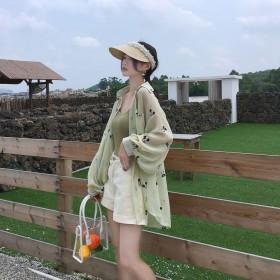 防晒衣2020夏季韩版卡通米奇印花开衫女宽松薄款长