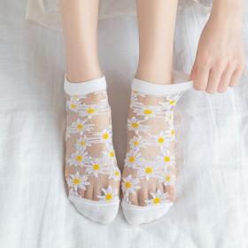 抖音新款女短袜子超火超薄丝袜新子女百搭水晶薄款袜