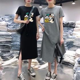 连衣裙女夏胖mm显瘦中长款2020年新款女装时尚气