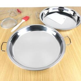 凉皮盘子凉皮锣锣不锈钢家用平底不粘做凉皮的盘子