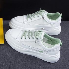 小白鞋女夏2020新款透气韩版百搭学生休闲厚底板鞋