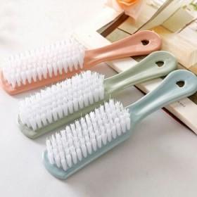 新款素色塑料小刷子鞋子清洁刷软毛洗鞋刷去污洗衣刷