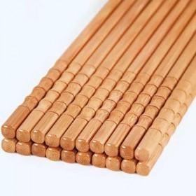 无漆无蜡家庭装天然竹筷子家用竹筷子防滑餐具酒店套装