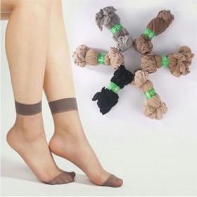 10双装春夏季女薄款防勾丝袜水晶丝短袜抗起球透明