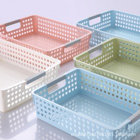 塑料PP收纳筐置物篮桌面收纳框幼儿园玩具杂物收纳筐