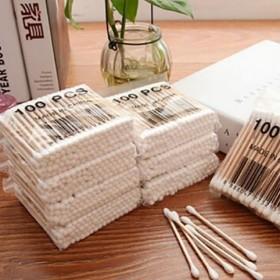 一次性100支装高极卫生棉棒 美容清洁化妆