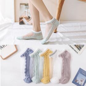 夏季袜子女韩版短袜薄款玻璃丝袜浅口日系可爱学生袜百