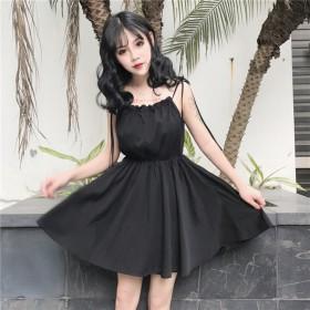 2020夏季韩版新款中长款宽松显瘦连衣裙女复古时尚