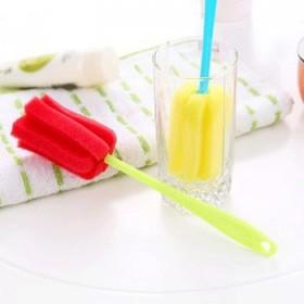 糖果色去污除垢海绵清洁刷 花瓣型长柄轻松杯刷