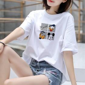 韩版新款短袖T恤女ins上衣潮学生休闲宽松大码女装