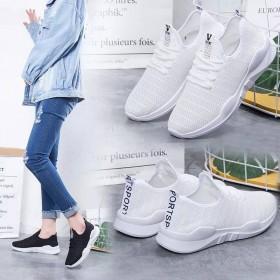 透气网鞋小白鞋女夏季网鞋跑步鞋百搭韩版女学生镂空透