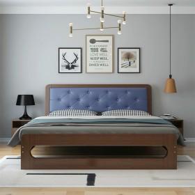 全实木床双人床1.8米经济型主卧1.5米软送床垫
