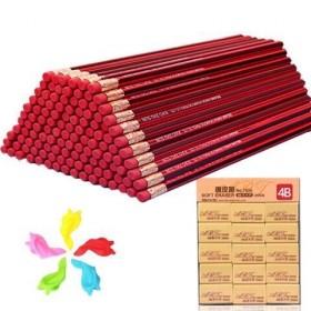 【50支装铅笔套装】小学生红木HB铅笔儿童学习文具