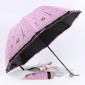 十骨八骨大号双人雨伞黑胶遮阳晴雨伞男女防紫外线折叠