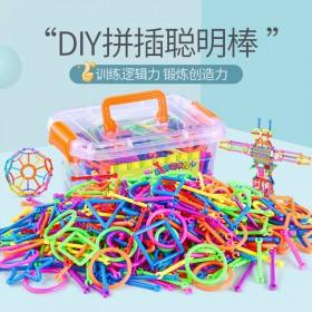880颗儿童聪明魔术棒积木塑料男女孩益智力开