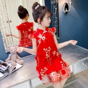 女童连衣裙2020新款夏装儿童旗袍中国风公主汉服