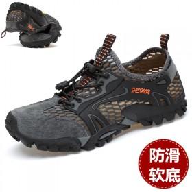 骆驼 洲夏天网布鞋男户外休闲登山鞋涉水鞋男士溯溪鞋